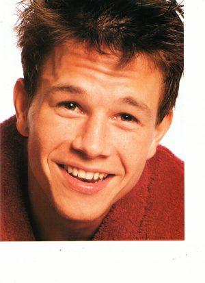 Marky Mark Wahlberg teen magazine pinup red bathrobe close up