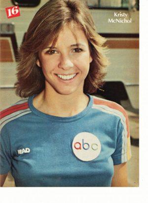 Kristy Mcnichol blue ABC shirt teen idol