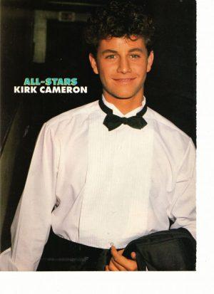 Kirk Cameron teen magazine pinup black tie tux All-Stars