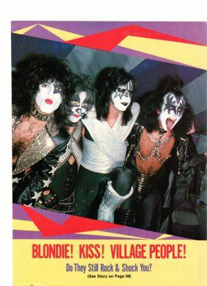 Kiss teen magazine pinup do we shock you shirtless
