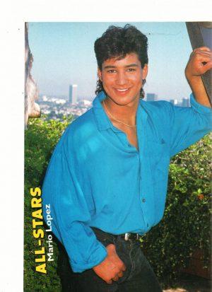 Mario Lopez blue shirt outside All-Stars