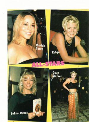 Mariah Carey Leann Rimes Gwen Stefani No Doubt Jordan Brower Curbin Allred teen magazine pinup