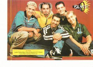 Nsync teen magazine pinup Blast group pose