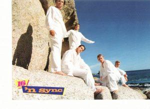 Nsync JC Chasez teen magazine pinup barefoot standing on rocks by the beach 16 magazine