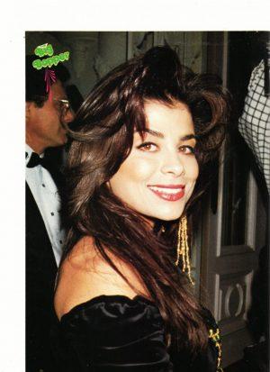 Paula Abdul black dress