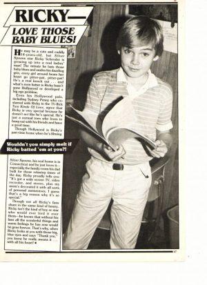 Ricky Schroder reading book