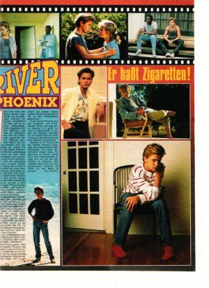 River Phoenix teen magazine clipping barefoot red socks Brav