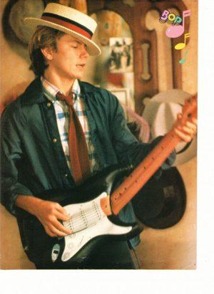 River Phoenix teen magazine pinup guitar hat Bop magazine