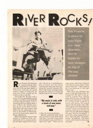 River Phoenix rocks teen idol