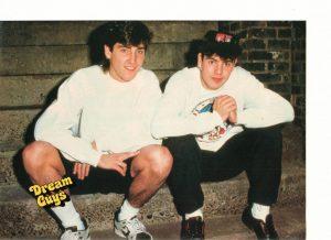 Jordan Knight Jonathan Knight teen magazine pinup shorts steps Dream Guys New Kids on the block