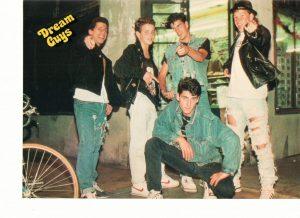 New Kids on the block teen magazine pinup open legs Jonathan Knight Dream Guys