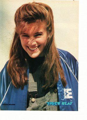 Alyssa Milano teen magazine pinup blue jacket Tiger Beat