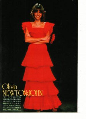 Olivia Newton John red dress
