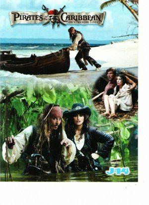 Johnny Depp teen magazine pinup Pirates of the Caribbean J-14