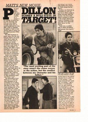 Matt Dillon teen magazine clipping target