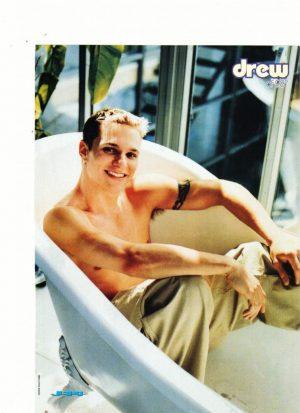 Drew Lachey 98 Degrees shirtless bathtub naked