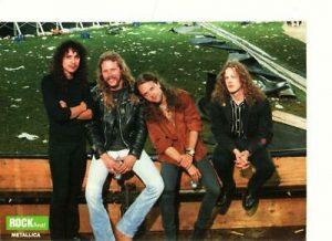 Metallica teen magazine pinup clipping Rock Beat Rockline