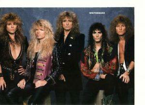 Whitesnake David Coverdale teen magazine pinup clipping Teen Machine Rockline