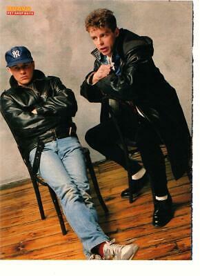 Pet Shop Boys teen magazine pinup clipping Bravo black chair