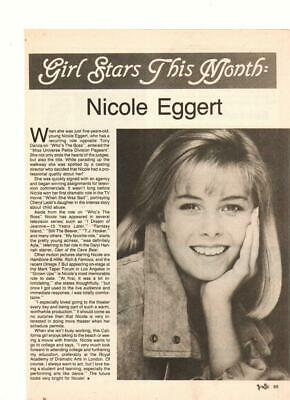 Nicole Eggert teen magazine pinup clipping Baywatch Teen Set