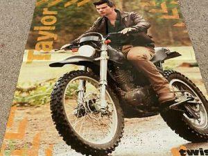 Selena Gomez Taylor Lautner teen magazine poster clipping Twilight motorcycle