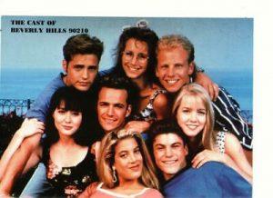Tori Spelling Luke Perry Jason Priestley teen magazine pinup clipping 90210 Bop