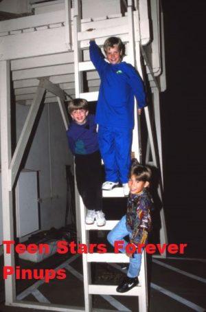 Jonathan Taylor Thomas Taran Noah Smith Zachery Ty Bryan steps outside young boys